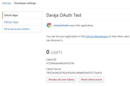 GitHub API access with OAuth 2 0 authorization for web